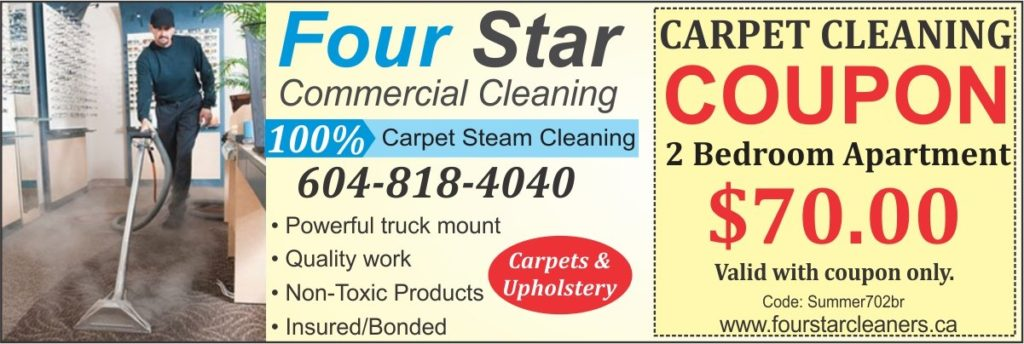 four star carpet cleaning coupon 70 dollars - summer discount