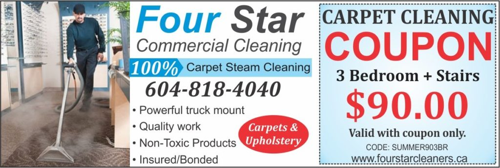 four star carpet cleaning coupon 90 dollars - summer discount